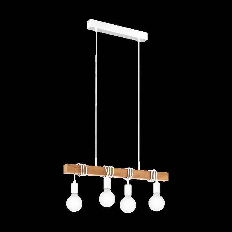 Lampa wisząca TOWNSHEND 33164 biały/brązowy EGLO