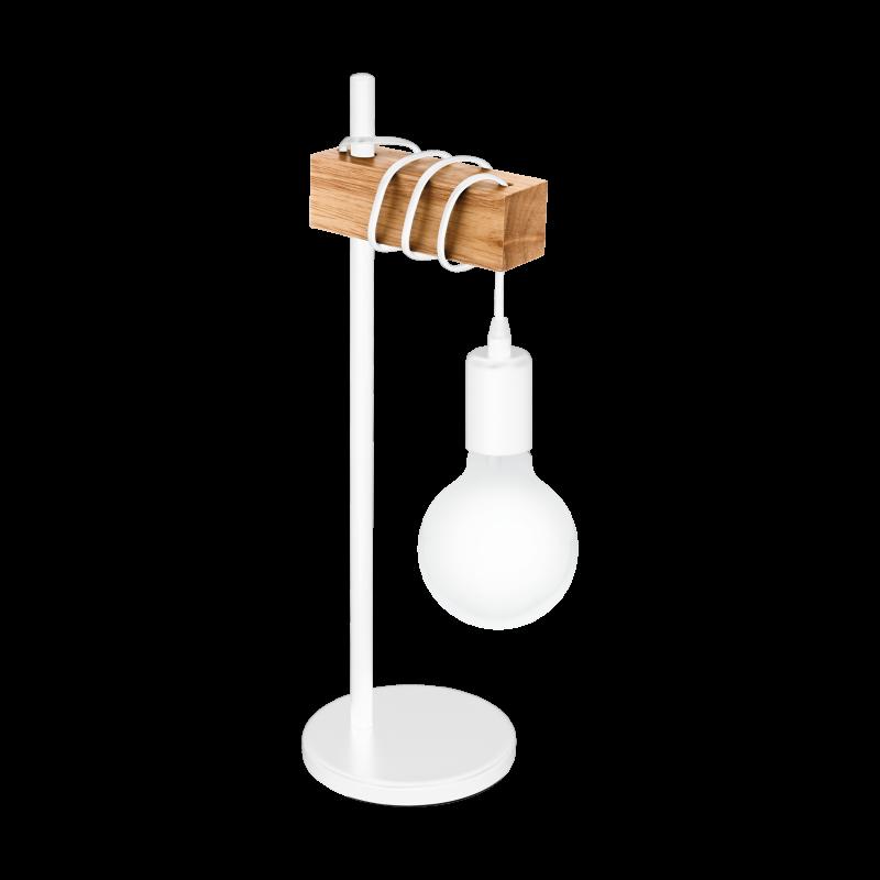 Lampa stołowa TOWNSHEND 33163 biały/brązowy EGLO