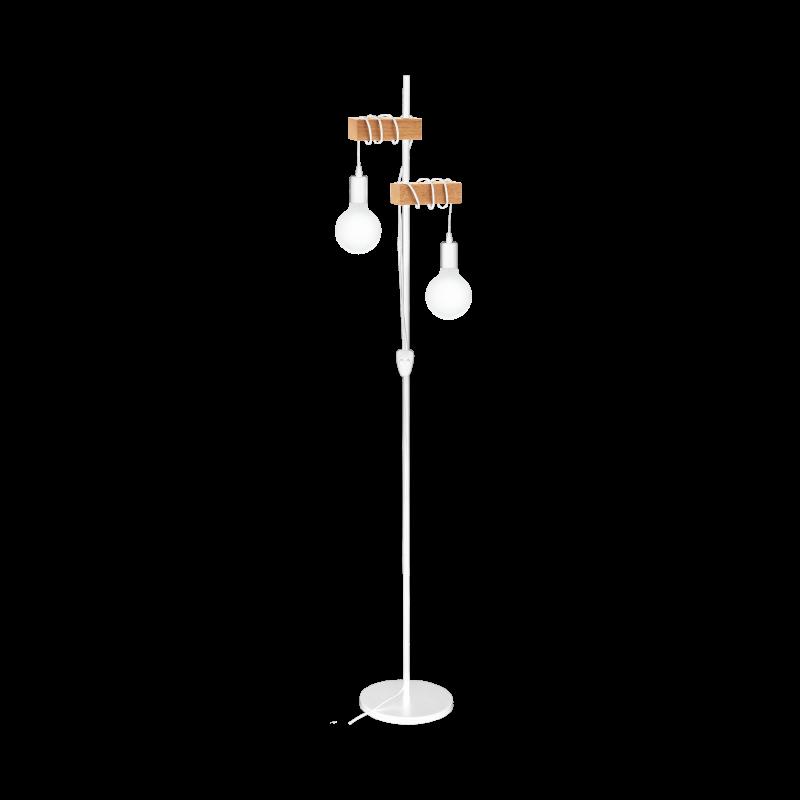 Lampa podłogowa TOWNSHEND 33167 biały/brązowy EGLO