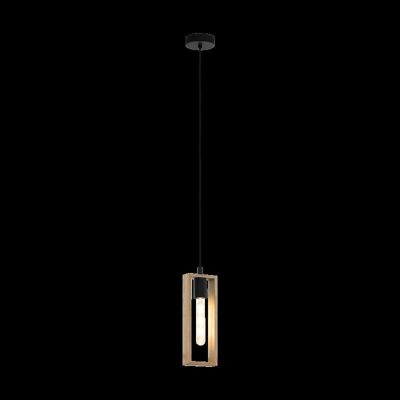 Lampa wisząca LITTLETON 49473 czarny/brązowy EGLO