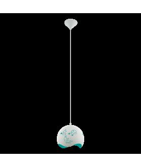 Lampa wisząca LAURINA 97393 biały/niebieski EGLO