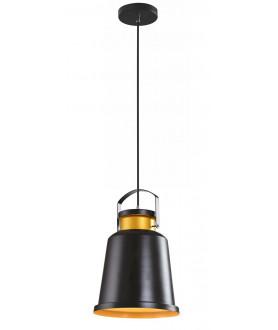Lampa wisząca ISLAND MD1038-1M czarny/złoty AUHILON