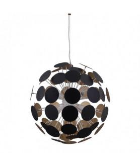 Lampa wisząca MAILONE AD20180/6C BL+G czarny/złoty ITALUX