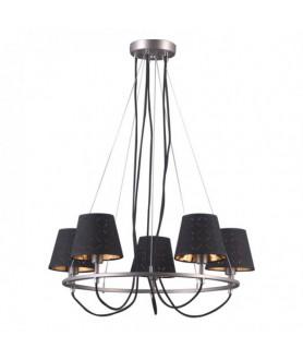 Lampa wisząca TERRY MD38999/5 czarny/chrom ITALUX