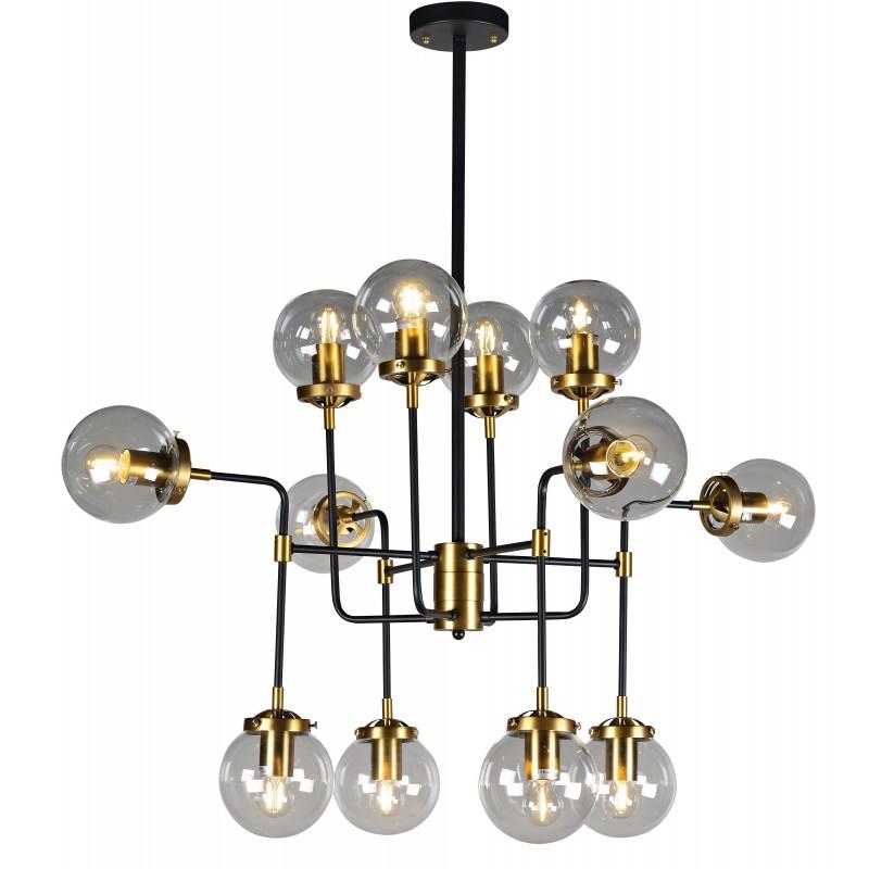 Lampa loft kule MEDIOLAN czarny/złoty