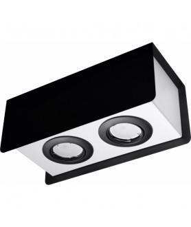 Plafon STEREO SL.0410 czarny/biały SOLLUX