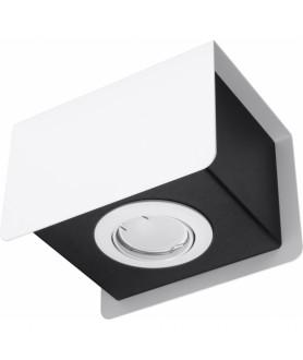 Plafon STEREO 1 SL.0405 biały/czarny SOLLUX
