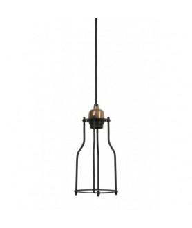 Lampa wisząca MARCIA 12,5x23 czarny/złoty 3094012 LIGHT & LIVING
