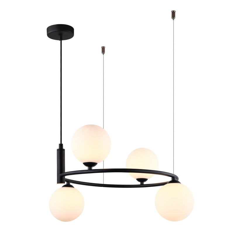 Lampa wisząca AMILY MDM-3974/4 BK czarny ITALUX