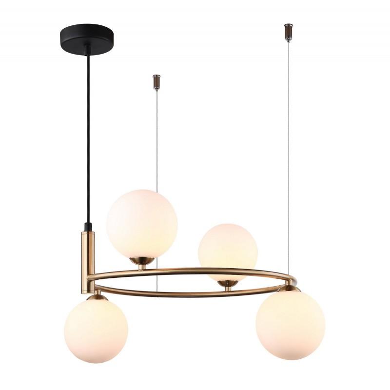 Lampa wisząca AMILY MDM-3974/4 BRO brązowy ITALUX