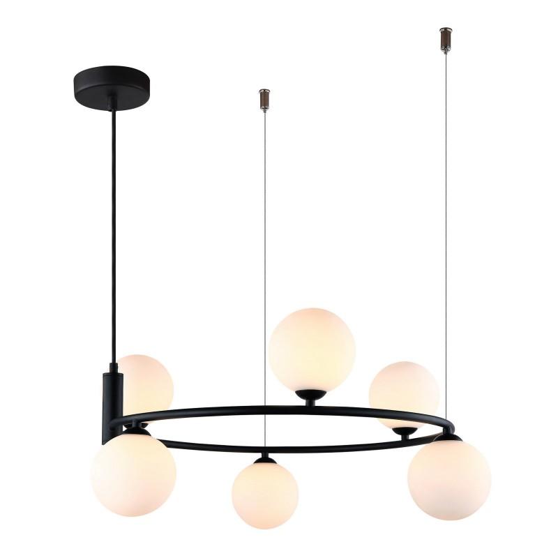 Lampa wisząca AMILY MDM-3974/6 BK czarny ITALUX