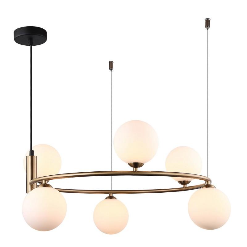 Lampa wisząca AMILY MDM-3974/6 BRO brązowy ITALUX