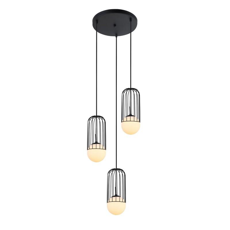 Lampa wisząca MATTY MDM-3939/3 BK czarny ITALUX