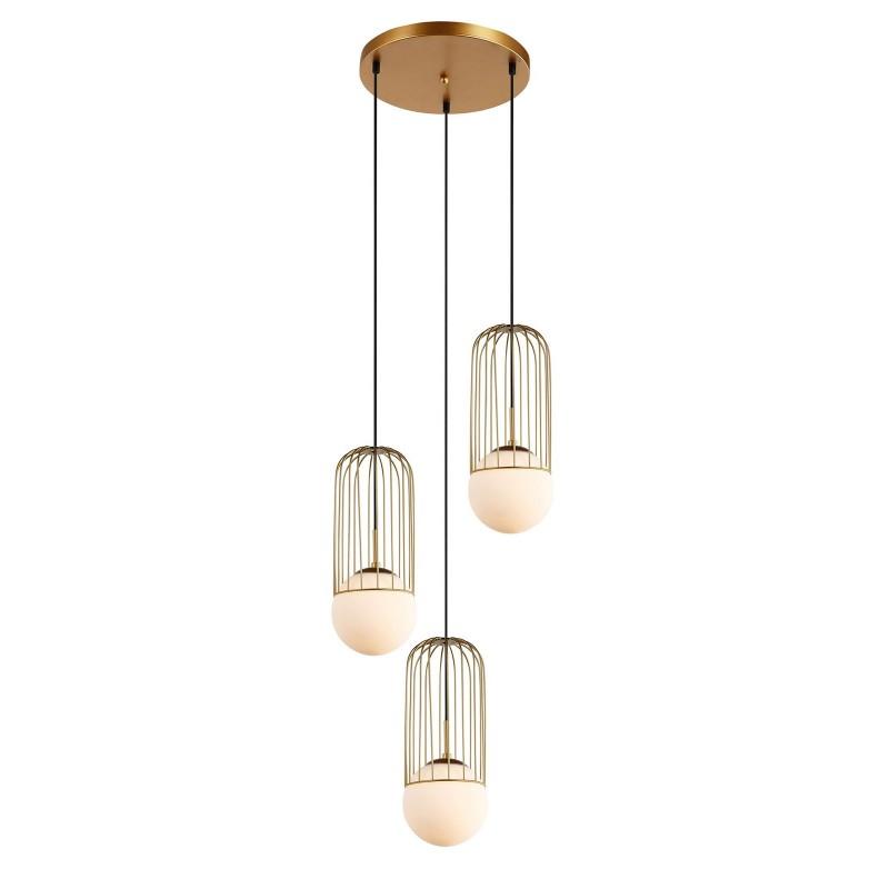 Lampa wiszaca MATTY MDM-3939/3 GD złoty ITALUX