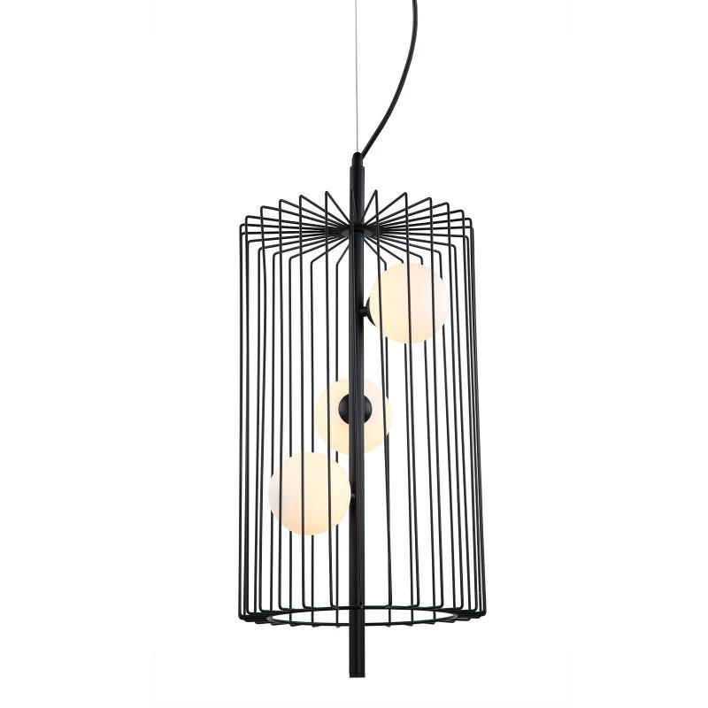 Lampa wisząca HAYDEN MDM-3935/3 BK czarny ITALUX