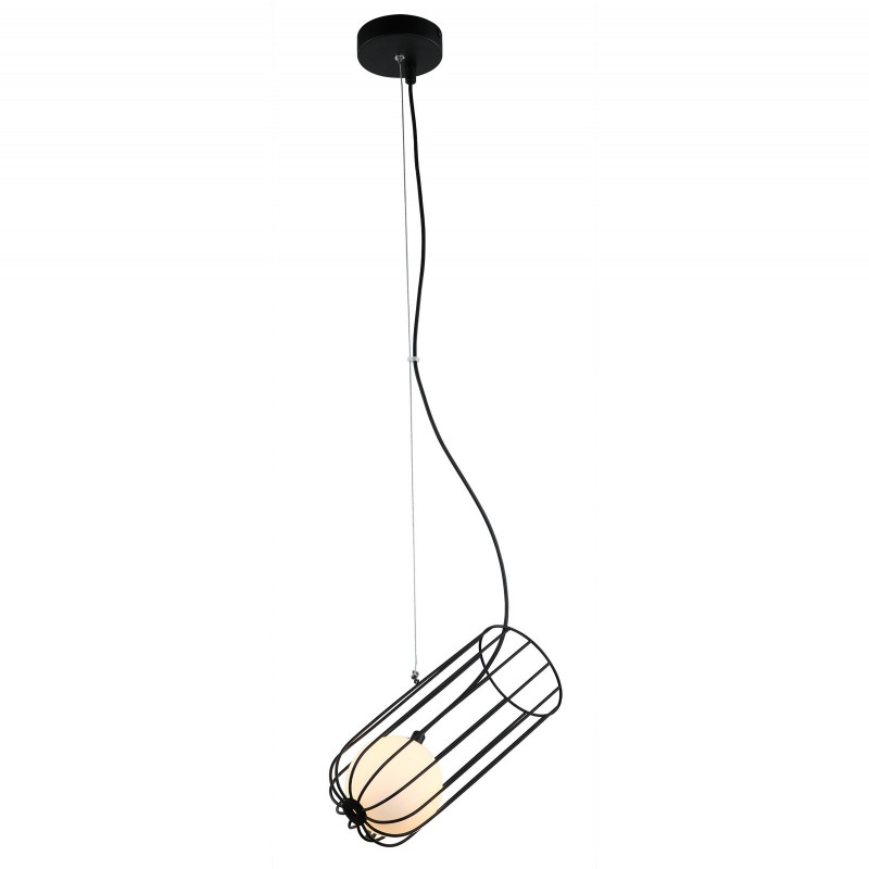Lampa wisząca COCO MDM-3941/1 BK czarny ITALUX