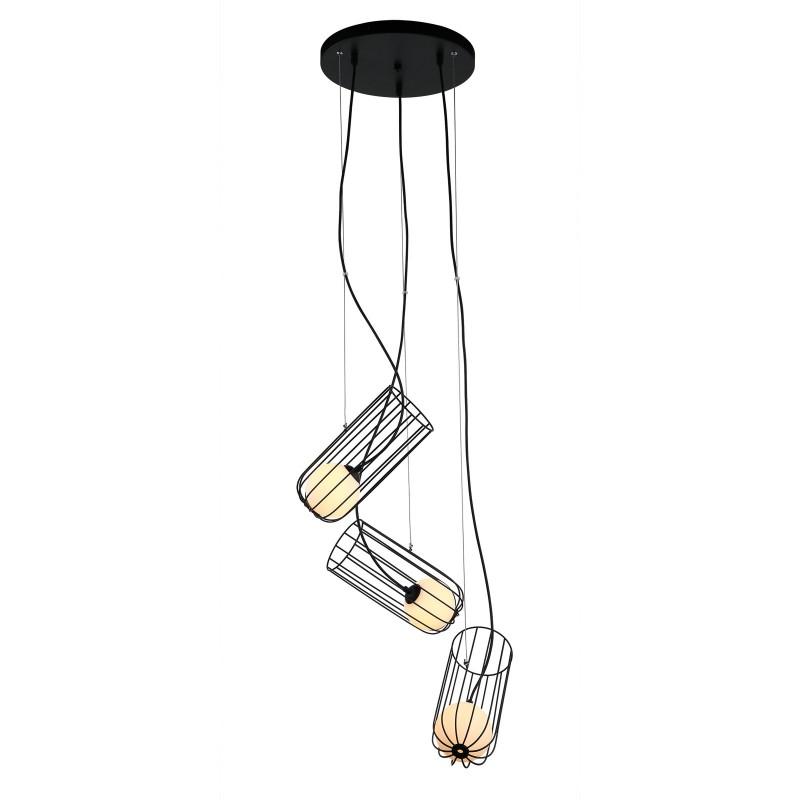 Lampa wisząca COCO MDM-3941/3 BK czarny ITALUX