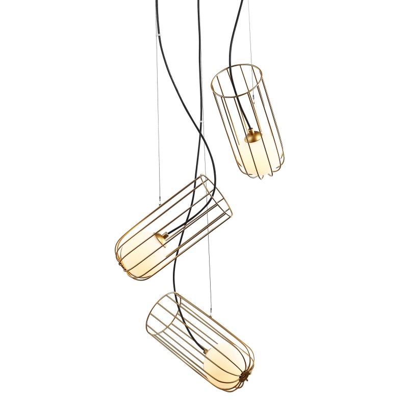 Lampa wisząca COCO MDM-3941/3 GD złoty ITALUX