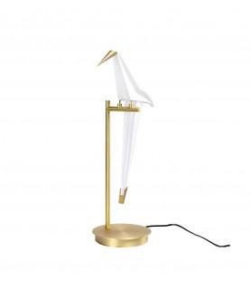 Lampa stołowa LORO TABLE MT8113-1 biały/złoty KING HOME