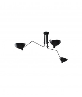 Lampa wisząca RAVEN 3 MD21178-3 czarny KING HOME