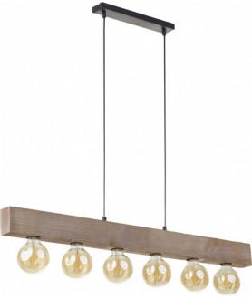 Lampa wisząca ARTWOOD 2666T brązowy TK LIGHTING