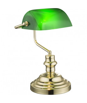 Lampa stołowa gabinetowa Bankierska 2491K Globo