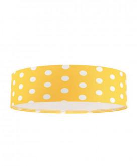 Plafon dziecięcy 090-108 żółty/białe kropki MACO DESIGN