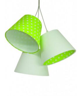 Lampa wisząca ELLA 070-076 biały/zielony MACO DESIGN