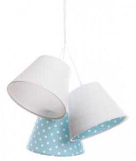 Lampa wisząca LAURA 070-077 biały/niebieski MACO DESIGN