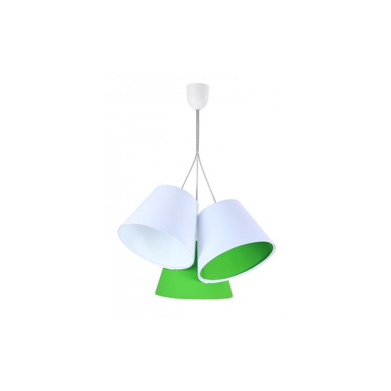 Lampa wisząca XENIA 070-095 biały/zielony MACO DESIGN