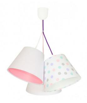 Lampa wisząca 070-106 biały/pastelowe kropki MACO DESIGN