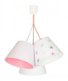 Lampa wisząca 070-100 biały/szaro różowe gwiazdki MACO DESIGN