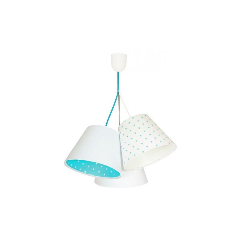Lampa wisząca 070-111 biały/turkusowy MACO DESIGN
