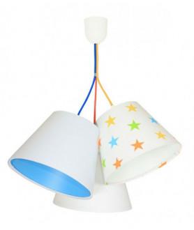 Lampa wisząca 070-116 biały/niebieski/gwiazdki MACO DESIGN