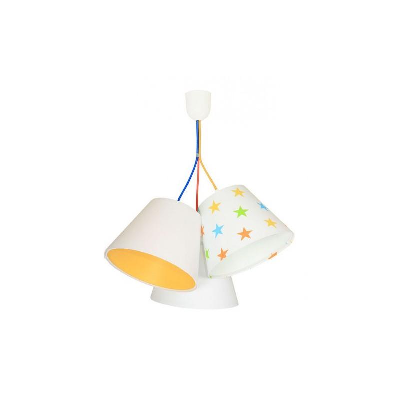 Lampa wisząca 070-115 biały/pomarańczowy/gwiazdki MACO DESIGN