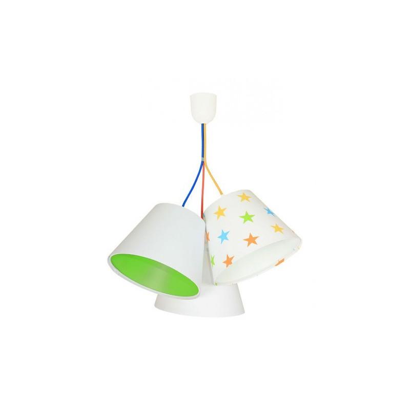 Lampa wisząca 070-099 biały/zielony/gwiazdki MACO DESIGN