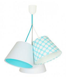 Lampa wisząca 070-109 biały/turkusowy/kropki MACO DESIGN