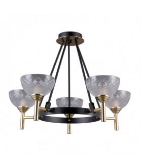 Lampa wisząca TOMASSO PNPL-43027-5 czarny/złoty ITALUX