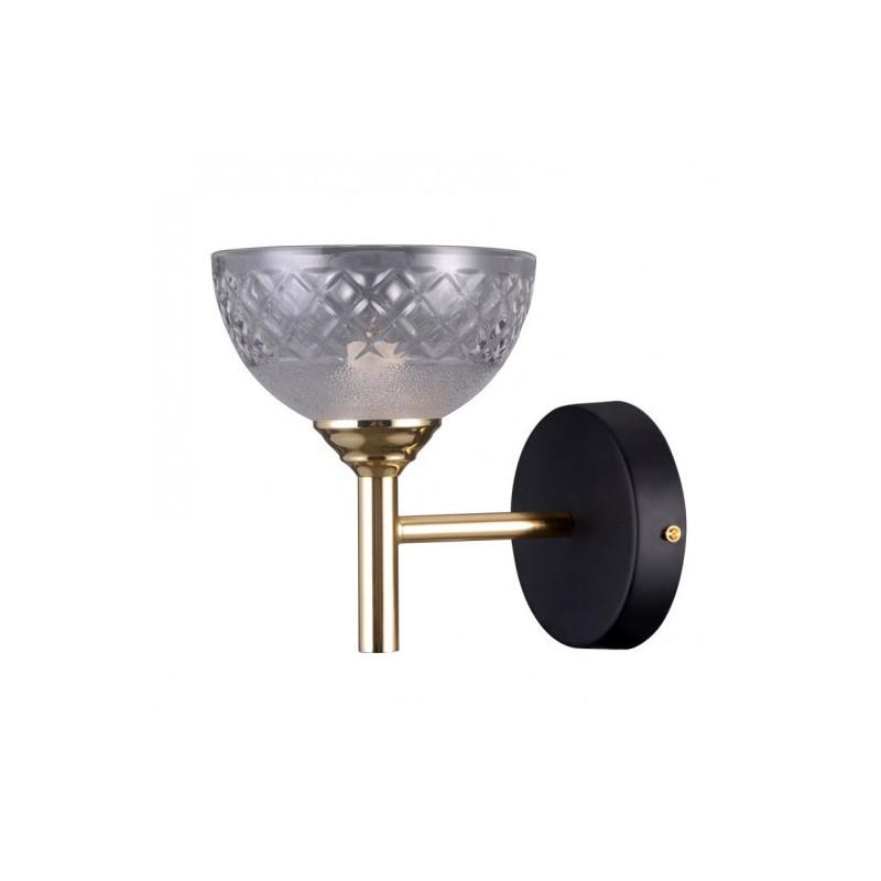 Kinkiet TOMASSO WL-43027-1 czarny/złoty ITALUX