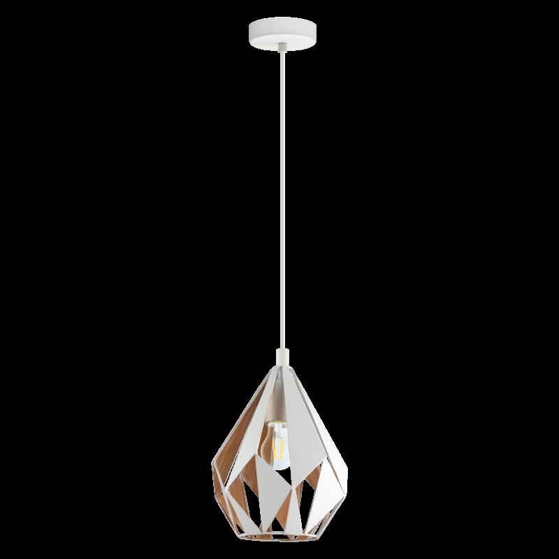 Lampa wisząca CARLTON 43001 biały EGLO
