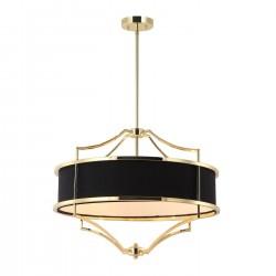 Lampa wisząca w stylu Hampton złoty czarny fi42 Stesso Gold / Nero S Orlicki Design