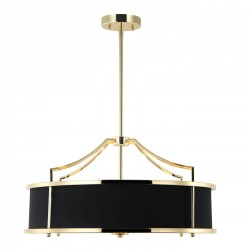 Lampa wisząca w stylu Hampton złoty czarny fi55 Stanza Gold / Nero M Design