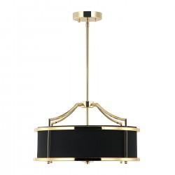 Lampa wisząca w stylu Hampton złoty czarny fi42 Stanza Gold / Nero S Orlicki Design