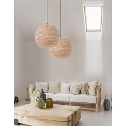 Lampa wisząca w stylu balijskim boho MELODIA CL9581501 ratan naturalny