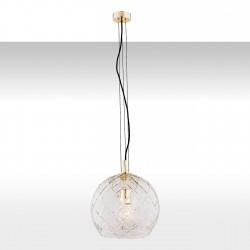 Lampa wisząca OVIEDO 4201 mosiądz/przezroczysty ARGON