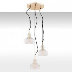 Lampa wisząca CRUZ 1462 mosiądz/przezroczysty ARGON