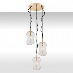 Lampa wisząca CADIZ 1464 mosiądz/przezroczysty ARGON