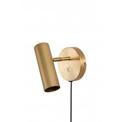 Kinkiet złoty z włącznikiem HUBBLE BRUSHED BRASS Globen Lighting