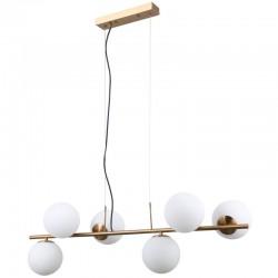 Lampa wisząca RADDI PND-5510-6-HBR złoty ITALUX