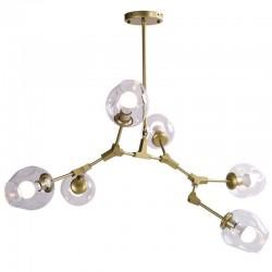 Lampa wisząca orchidea złota klosze szklane ORCHID-6  ST-1232-6 GOLD SID